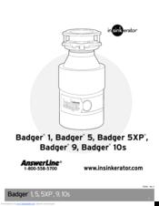 Insinkerator badger 5 manuals.