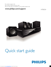 Philips HTB3524 Quick Start Manual