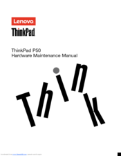 Lenovo ThinkPad P50 Hardware Maintenance Manual