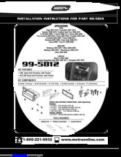 metra electronics 99 5812 manuals rh manualslib com Pac Electronics Metra Electronics Logo
