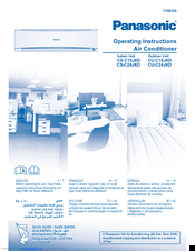 Panasonic CS-C24JKD Operating Instructions Manual