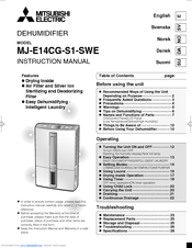 Mitsubishi Electric MJ-E14CG-S1-SWE Instruction Manual