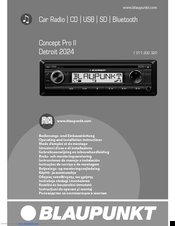 blaupunkt detroit 2024 manuals rh manualslib com blaupunkt car stereo manual blaupunkt dms car radio manual