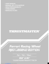Thrustmaster Ferrari Racing Wheel Red Legend Edition User Manual