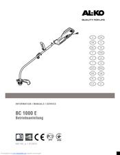 Trimer al ko bc 4125 manual parts youtube.