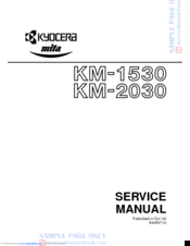 Kyocera KM-1530 Service Manual