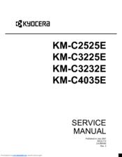 kyocera km c2525e c3225e c3232e c4035e service repair manual download