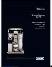 delonghi primadonna elite manuals rh manualslib com delonghi prima donna coffee machine instruction manual DeLonghi Prima Donna Elite