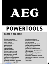 AEG GSL 600 E Original Instructions Manual
