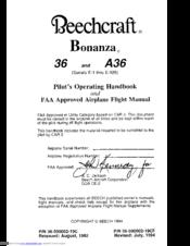 Beechcraft Bonanza 36 Pilot Operating Handbook Beechcraft