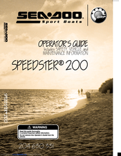 sea doo speedster 200 operator s manual pdf download rh manualslib com sea doo speedster 200 owners manual Sea-Doo Speedster 200 2004