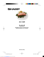 Sharp AX-1100R Operation Manual With Cookbook
