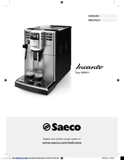 saeco incanto hd8911 manuals rh manualslib com Instruction Manual Example iPad Manual