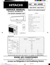 HITACHI RAS-70YH5 SERVICE MANUAL Pdf Download