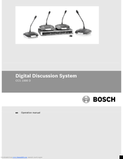 Bosch CCS 1000 D Operation Manual