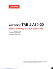 lenovo tab 2 a10 30 instruction manual