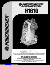 PowerWasher h1610 User Manual