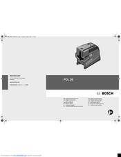 Bosch PCL 20 Manuals