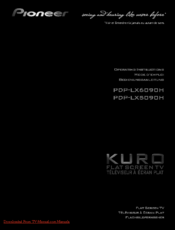 Pioneer KURO KRP-500A Operating Instructions Manual