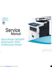 xerox 3635mfp phaser b w laser manuals rh manualslib com phaser 3635 service manual phaser 3635mfp driver windows 10