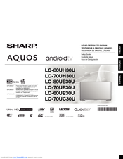 sharp aquos lc 80uh30u manuals rh manualslib com