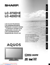 Sharp Lc 46xd1e Manuals Manualslib