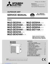 mitsubishi electric muz ge35va manuals rh manualslib com