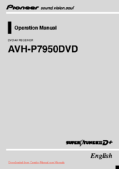 Pioneer AVH-P7950DVD Operation Manual