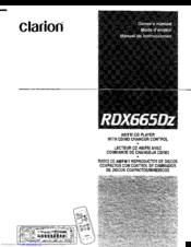 clarion rdx665dz manuals rh manualslib com