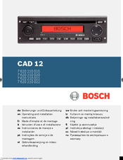 Bosch CAD 12 Operating And Installation Instructions