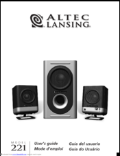 altec lansing 221 manuals rh manualslib com altec lansing 251 5.1 computer speakers manual HP Altec Lansing Manual