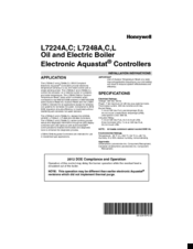 Honeywell L7248A Installation Instructions Manual