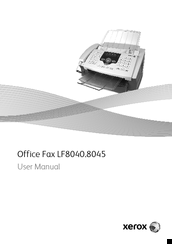Xerox LF8040.8045 User Manual