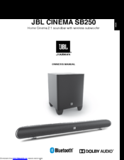 JBL CINEMA SB250 OWNER'S MANUAL Pdf Download
