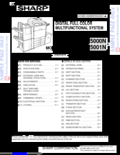 Sharp MX-5001N Service Manual