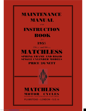 Matchless G80 Manuals
