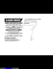 Black & Decker ST7600 Instruction Manua
