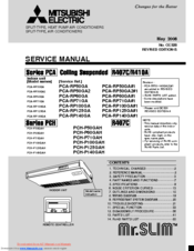 Mitsubishi Electric PCA-RP71GA Service Manual