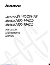 Lenovo IdeaPad 500-15ACZ Manuals