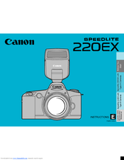 Canon 220EX - Speedlite - Hot-shoe clip-on Flash Instructions Manual
