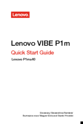 Lenovo VIBE P1m SERIES Manuals
