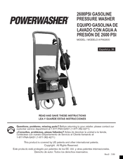 PowerWasher PWH2600 Instruction Manual