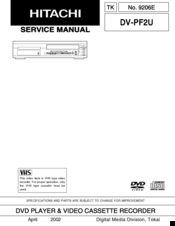 Hitachi DV-PF2U Service Manual