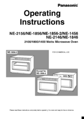 panasonic microwave operating instructions