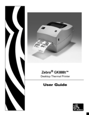 Zebra GK888t Manuals
