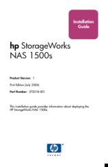 HP ProLiant StorageWorks NAS 1500s Installation Manual