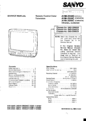 Sanyo AVM-2068C Service Manual