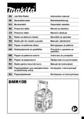 Makita DMR108 Instruction Manual