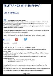 telstra mf910v manuals rh manualslib com Instruction Manual Example Owner's Manual