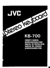JVC KB-700 Owner's Manual